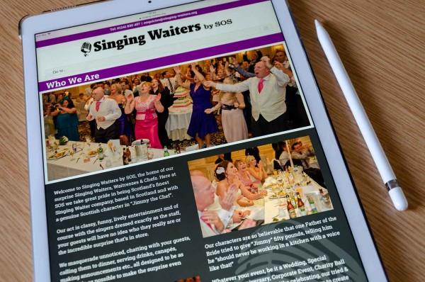 Singing Waiters Website