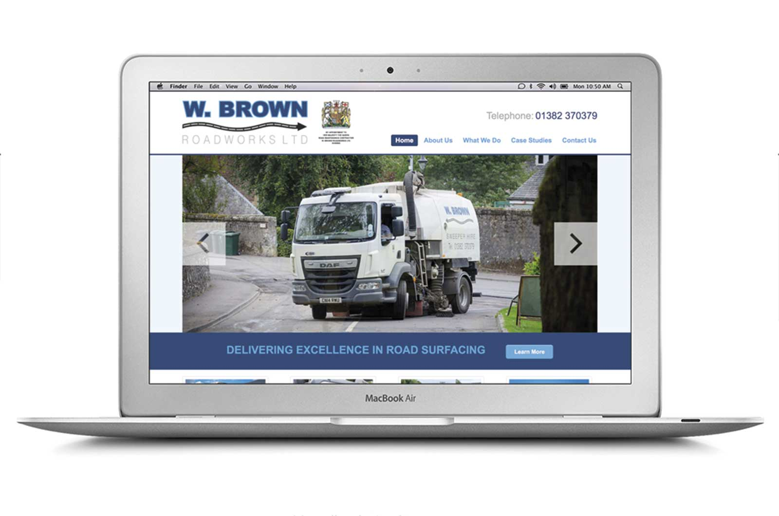 W Brown Roadworks Website